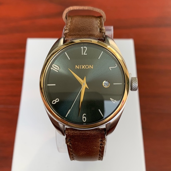 2b43c741f Nixon Accessories | Bullet Leather Brown Gold Womens Watch | Poshmark